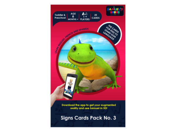 Samuel Signs - signs cards Pack No. 3 - educational game - simplified sign language